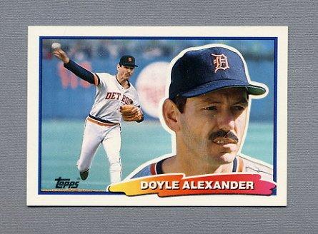 1988 Topps BIG Baseball #034 Doyle Alexander - Detroit Tigers