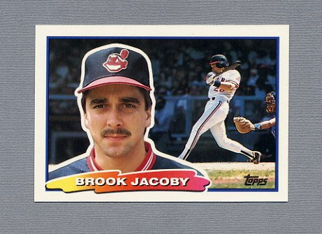 1988 Topps BIG Baseball #017 Brook Jacoby - Cleveland Indians