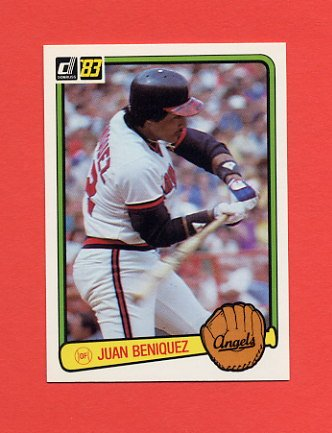 1983 Donruss Baseball #640 Juan Beniquez - California Angels