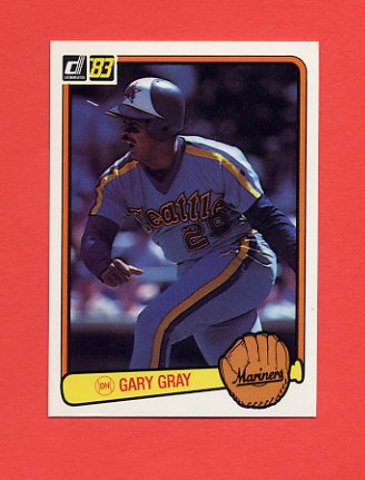 1983 Donruss Baseball #637 Gary Gray - Seattle Mariners
