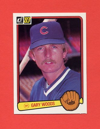 1983 Donruss Baseball #631 Gary Woods - Chicago Cubs