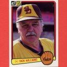 1983 Donruss Baseball #625 Dick Williams MG - San Diego Padres