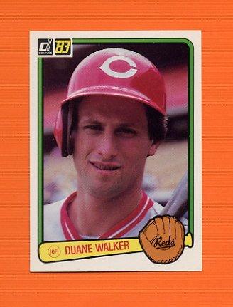 1983 Donruss Baseball #624 Duane Walker - Cincinnati Reds