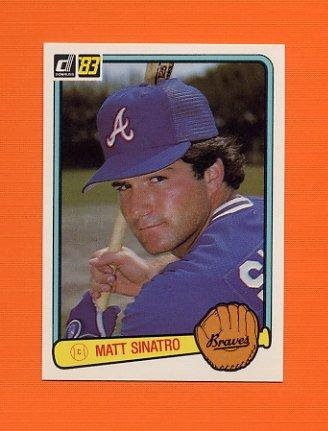 1983 Donruss Baseball #622 Matt Sinatro - Atlanta Braves
