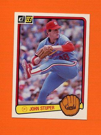 1983 Donruss Baseball #621 John Stuper - St. Louis Cardinals