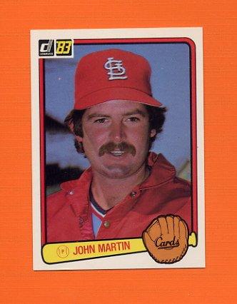 1983 Donruss Baseball #617 John Martin - St. Louis Cardinals