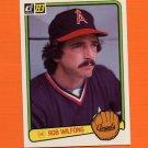 1983 Donruss Baseball #612 Rob Wilfong - California Angels