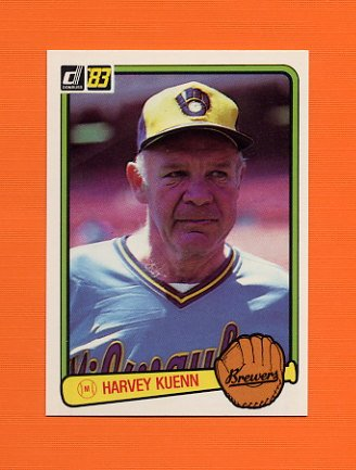 1983 Donruss Baseball #608 Harvey Kuenn MG - Milwaukee Brewers