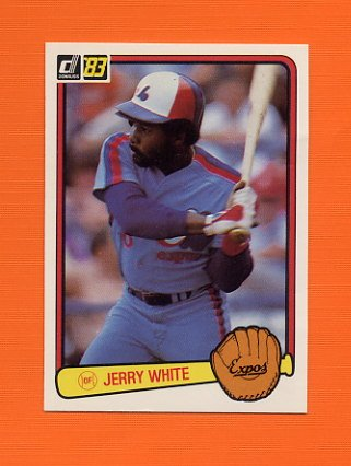 1983 Donruss Baseball #602 Jerry White - Montreal Expos