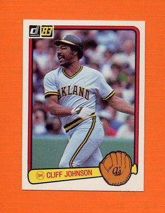 1983 Donruss Baseball #601 Cliff Johnson - Oakland A's
