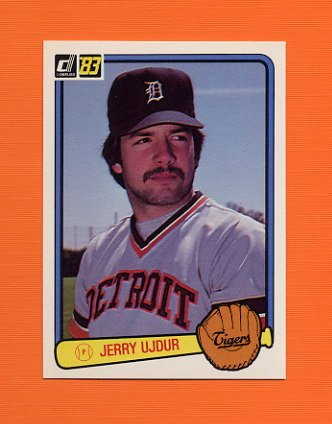 1983 Donruss Baseball #600 Jerry Ujdur - Detroit Tigers