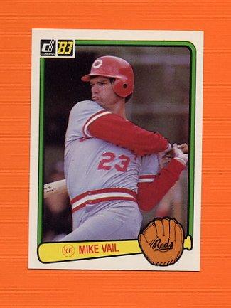 1983 Donruss Baseball #597 Mike Vail - Cincinnati Reds
