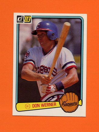 1983 Donruss Baseball #593 Don Werner - Texas Rangers