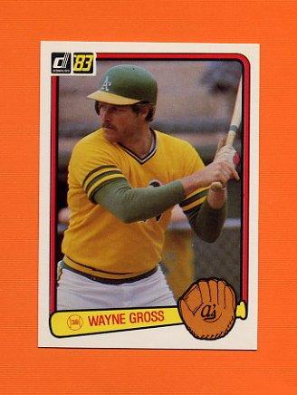 1983 Donruss Baseball #591 Wayne Gross - Oakland A's