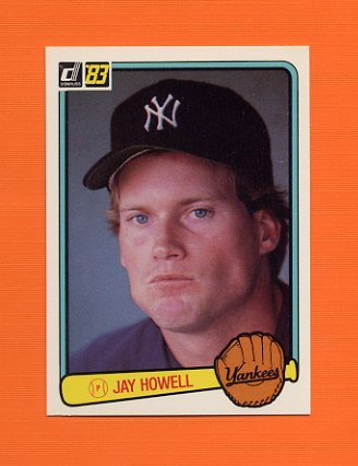 1983 Donruss Baseball #587 Jay Howell - New York Yankees