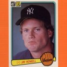 1983 Donruss Baseball #587 Jay Howell - New York Yankees