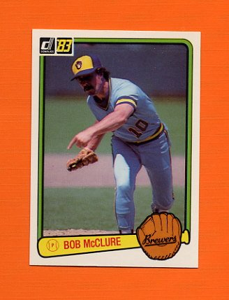 1983 Donruss Baseball #582 Bob McClure - Milwaukee Brewers