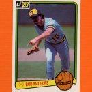 1983 Donruss Baseball #582 Bob McClure - Milwaukee Brewers