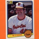 1983 Donruss Baseball #581 Tim Stoddard - Baltimore Orioles
