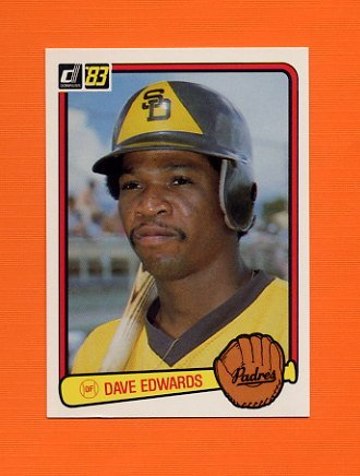 1983 Donruss Baseball #565 Dave Edwards - San Diego Padres