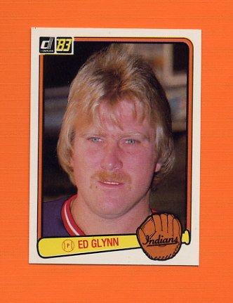 1983 Donruss Baseball #537 Ed Glynn - Cleveland Indians