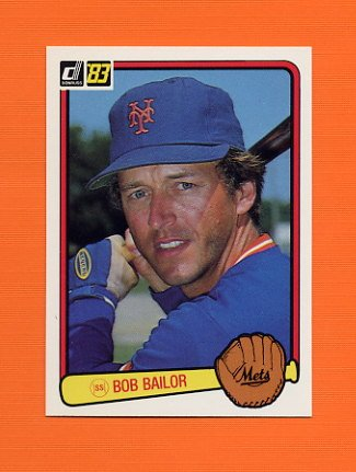 1983 Donruss Baseball #506 Bob Bailor - New York Mets