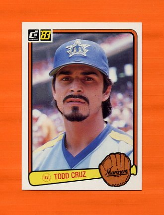 1983 Donruss Baseball #505 Todd Cruz - Seattle Mariners