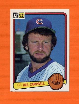 1983 Donruss Baseball #504 Bill Campbell - Chicago Cubs