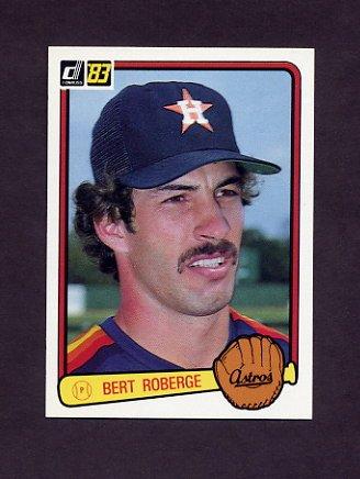 1983 Donruss Baseball #496 Bert Roberge - Houston Astros