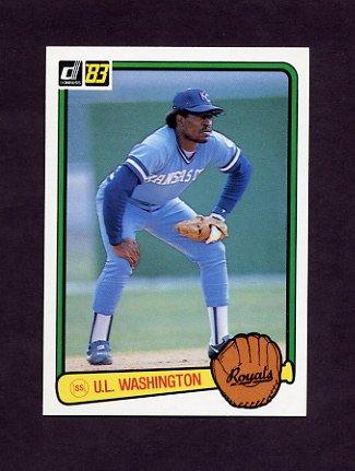 1983 Donruss Baseball #490 U.L. Washington - Kansas City Royals