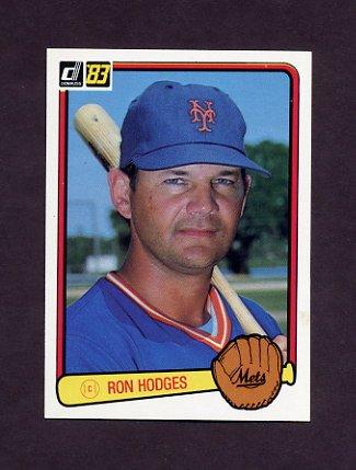 1983 Donruss Baseball #476 Ron Hodges - New York Mets
