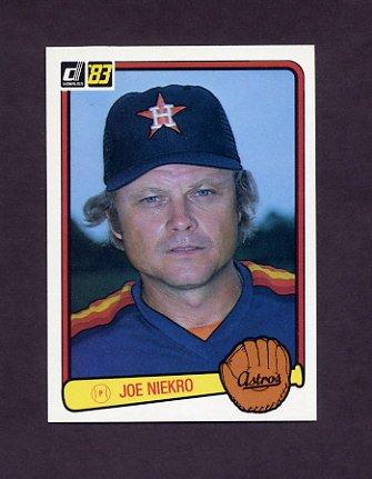 1983 Donruss Baseball #470 Joe Niekro - Houston Astros