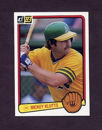 1983 Donruss Baseball #465 Mickey Klutts - Oakland A's