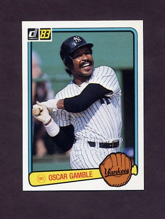 1983 Donruss Baseball #461 Oscar Gamble - New York Yankees