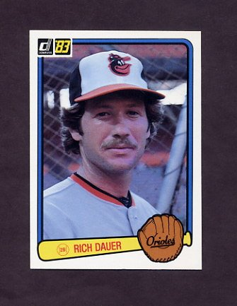 1983 Donruss Baseball #455 Rich Dauer - Baltimore Orioles