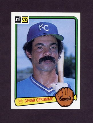 1983 Donruss Baseball #448 Cesar Geronimo - Kansas City Royals
