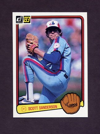 1983 Donruss Baseball #446 Scott Sanderson - Montreal Expos