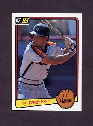 1983 Donruss Baseball #443 Danny Heep - Houston Astros