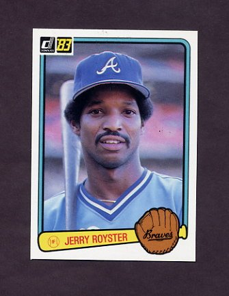1983 Donruss Baseball #425 Jerry Royster - Atlanta Braves