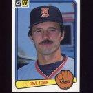 1983 Donruss Baseball #385 Dave Tobik - Detroit Tigers