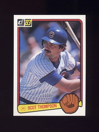1983 Donruss Baseball #378 Scot Thompson - Chicago Cubs