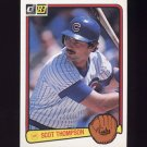 1983 Donruss Baseball #378 Scot Thompson - Chicago Cubs