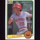 1983 Donruss Baseball #374 Alex Trevino - Cincinnati Reds