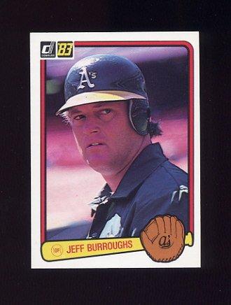 1983 Donruss Baseball #323 Jeff Burroughs - Oakland A's