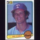 1983 Donruss Baseball #321 Dave Schmidt - Texas Rangers