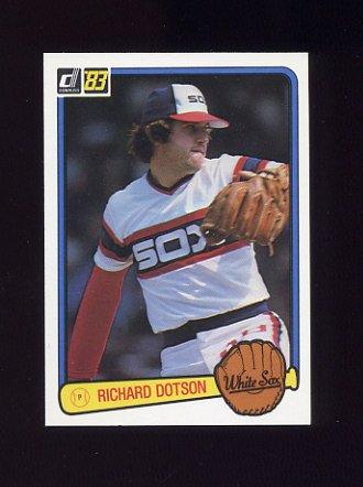 1983 Donruss Baseball #319 Richard Dotson - Chicago White Sox