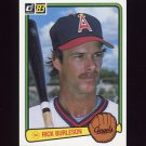 1983 Donruss Baseball #318 Rick Burleson - California Angels