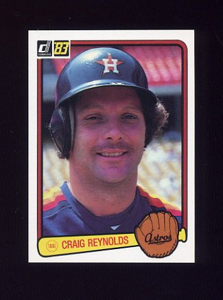 1983 Donruss Baseball #317 Craig Reynolds - Houston Astros