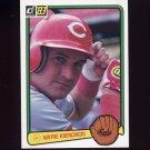 1983 Donruss Baseball #314 Wayne Krenchicki - Cincinnati Reds