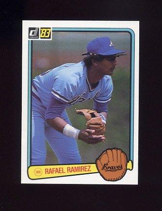 1983 Donruss Baseball #310 Rafael Ramirez - Atlanta Braves